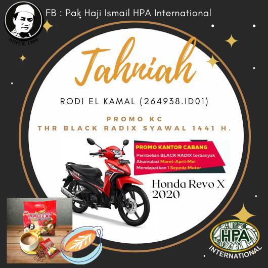 Pengumuman Promo BLACK RADIX Syawal 2020