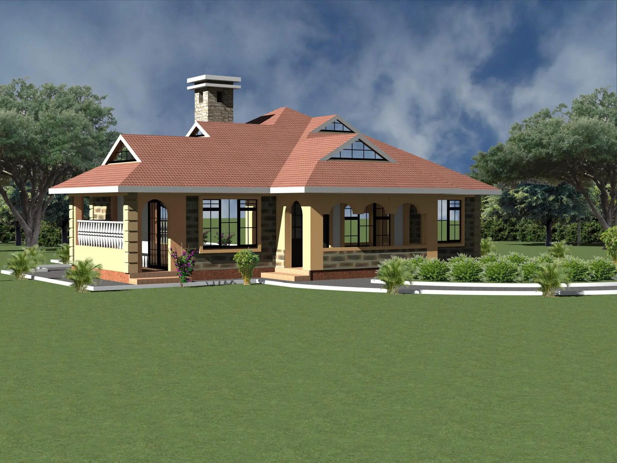 Simple 4 Bedroom Bungalow House Plans Novocom Top