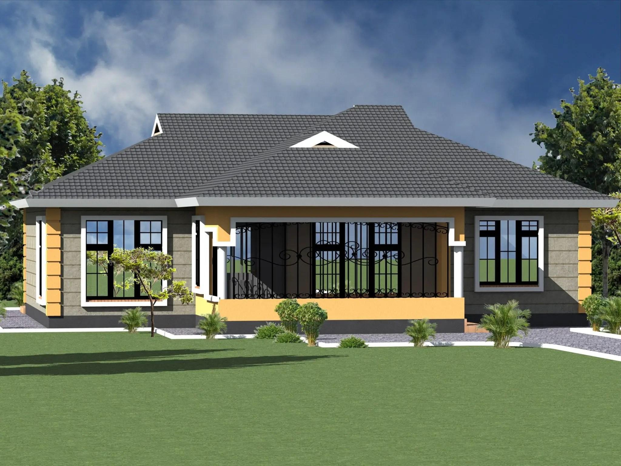 3 Bedroom Bungalow House Plan Design Hpd Consult
