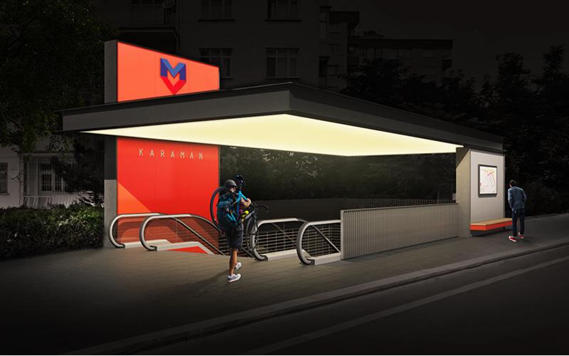 Konya Metro Identity Design