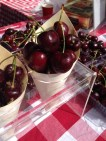 Super sweet cherries at Salamanca Markets