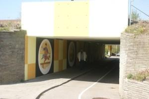 Vægdekorering af tunnel i ishøj