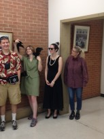 "Cody the tourist. Lacey has gone to ""The Birds."" Rachel was Holly Golightly, and Jennifer was a nerd."
