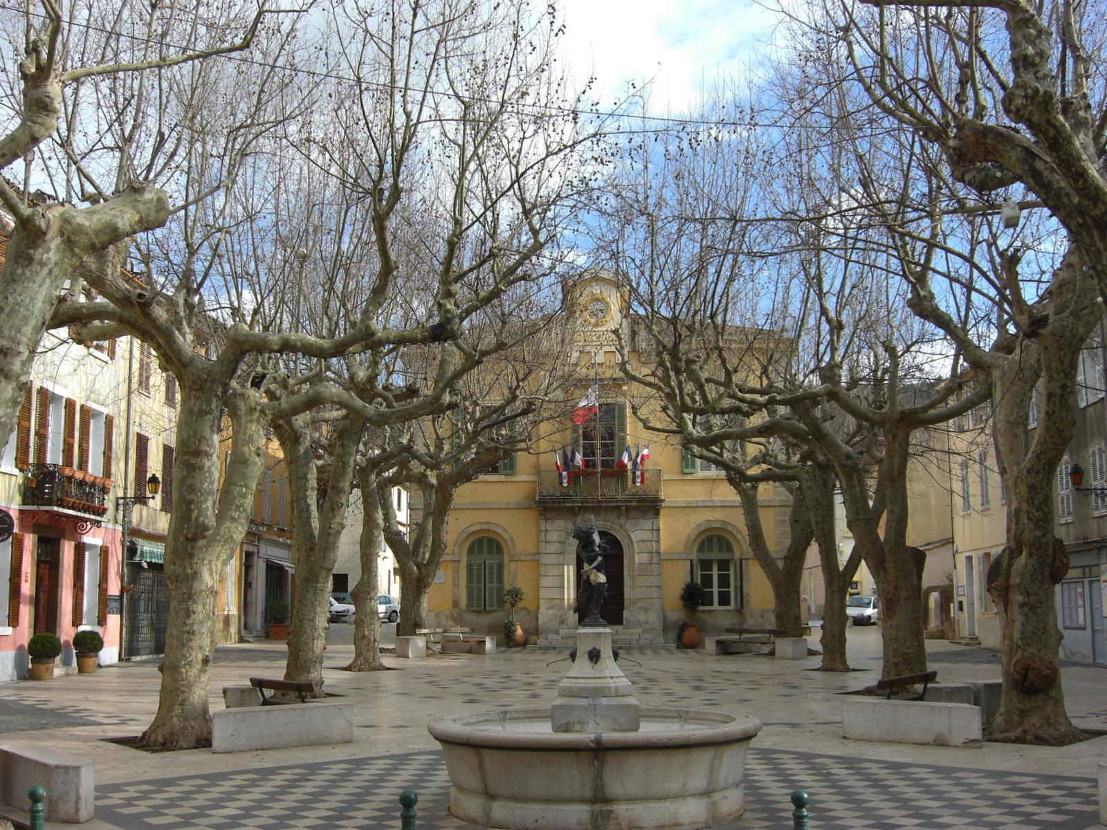 Collobrières Town Square