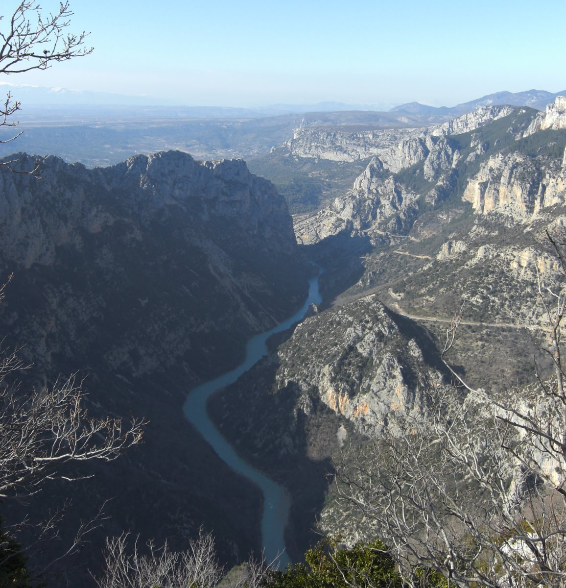 The Verdon heading into Lac St-Croix in the distance
