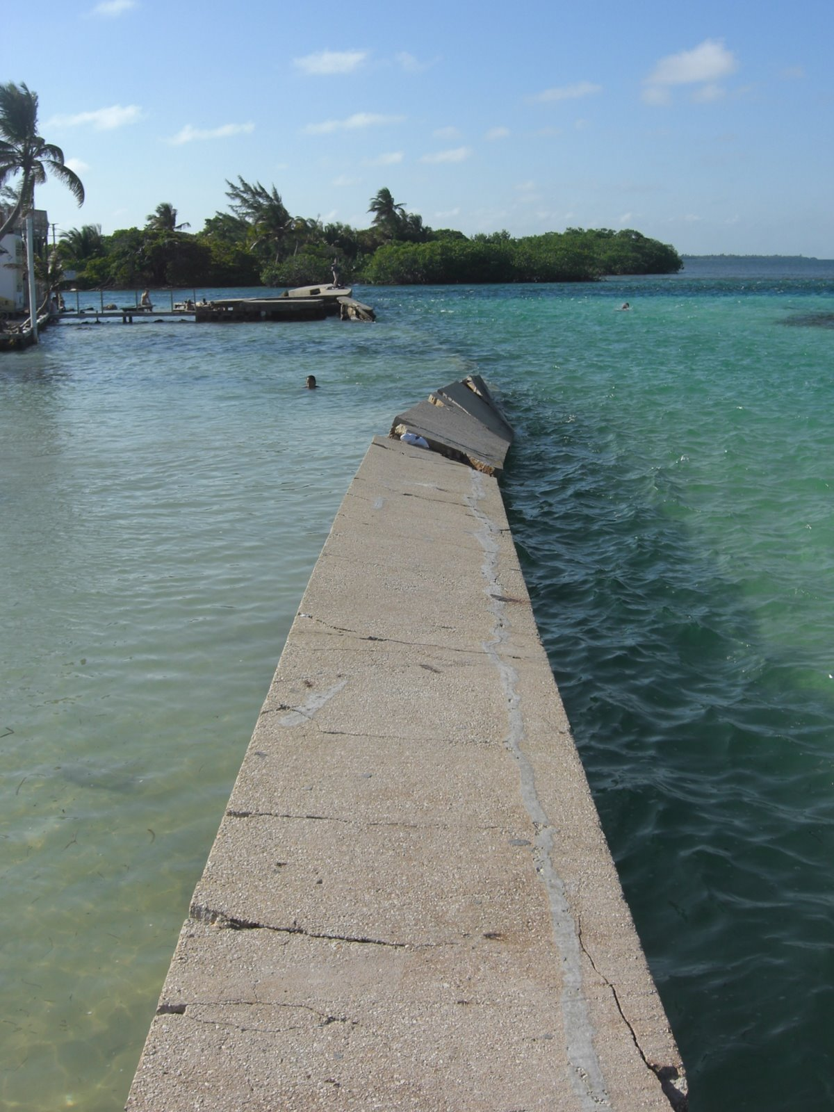 And that's what the Caribbean can do to a harbour wall. A hurricane helped out
