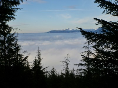This was the pretty spectacular view we had once we got above the fog!