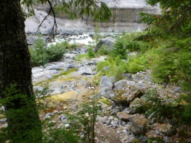 Once you have descended a bit, follow this rocky river shore
