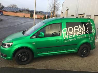Autobeschriftung-Monheim-Caddy-Adam-Weiner-Personal-Trainer-Seite
