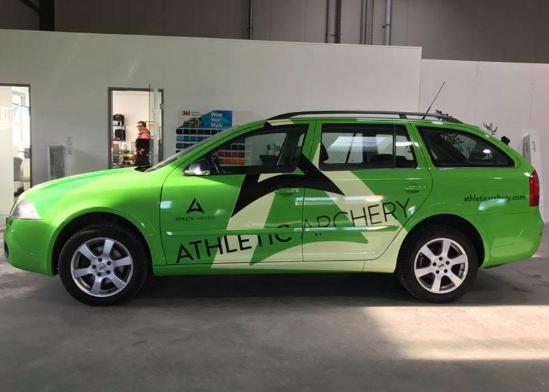 Fahrzeugbeklebung für die Firma Athletic Apchery