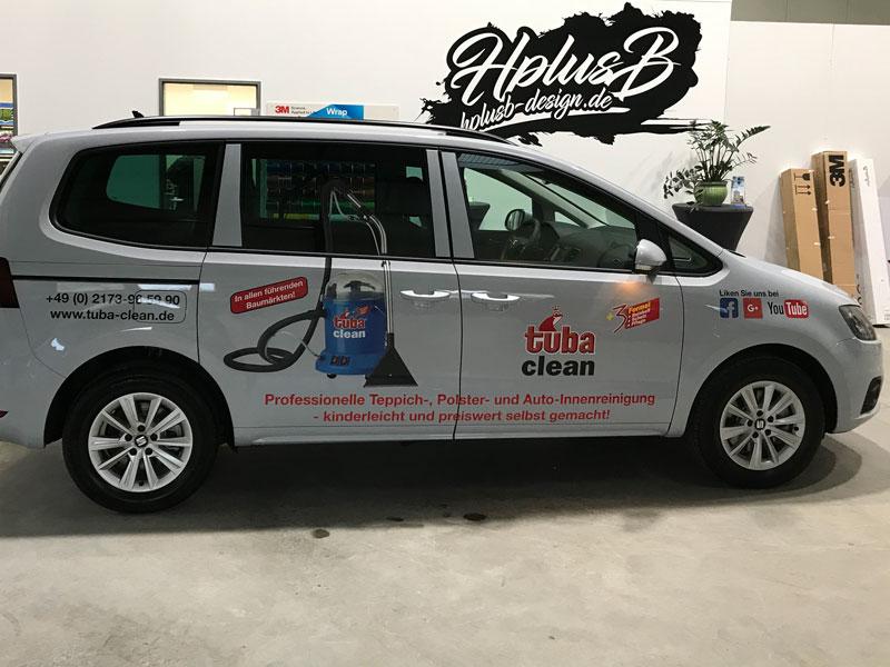Autobeklebung/Autowerbung für tuba clean
