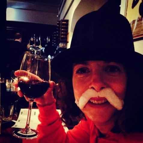 celebratory glass of wine