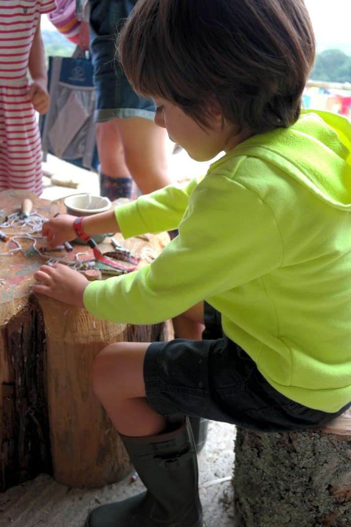making a wooden necklace