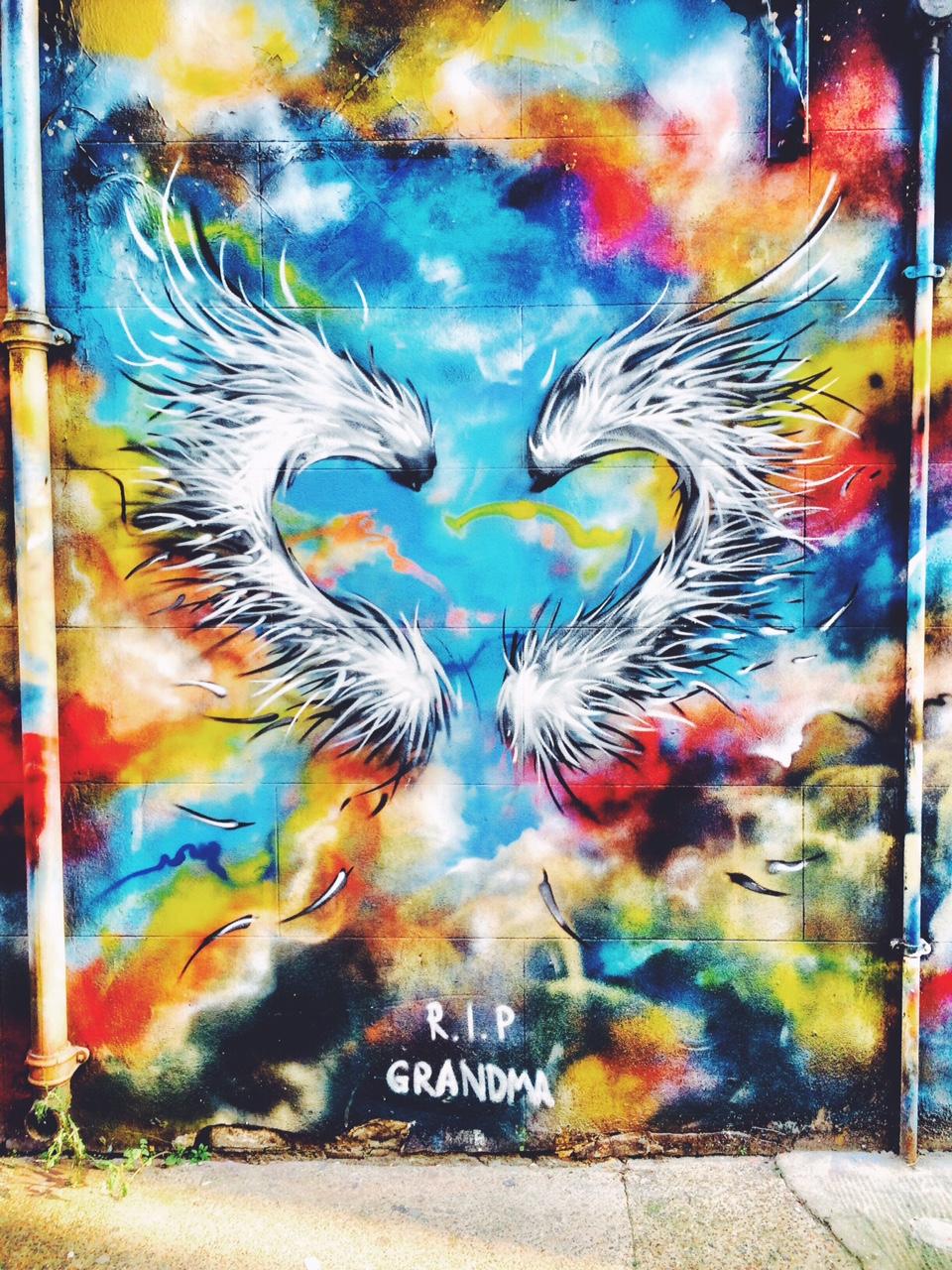 R.I.P. grandma graffit