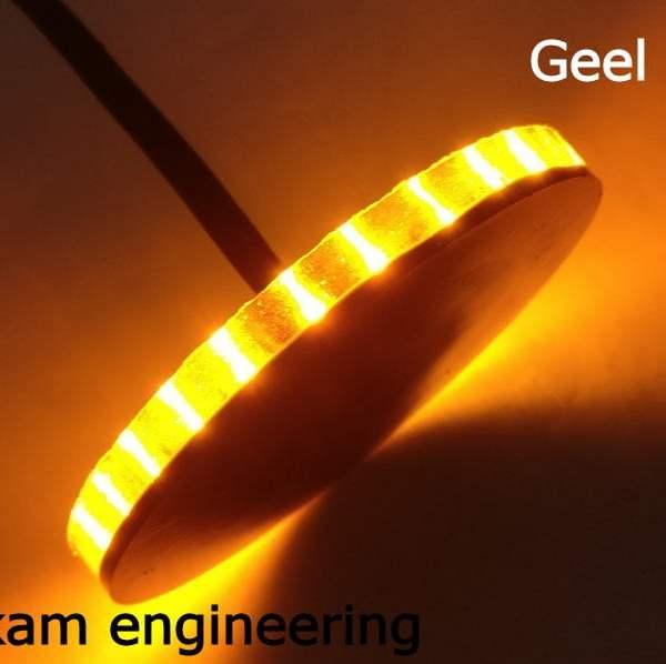 Geel - Yellow BMW led embleem knipperlicht