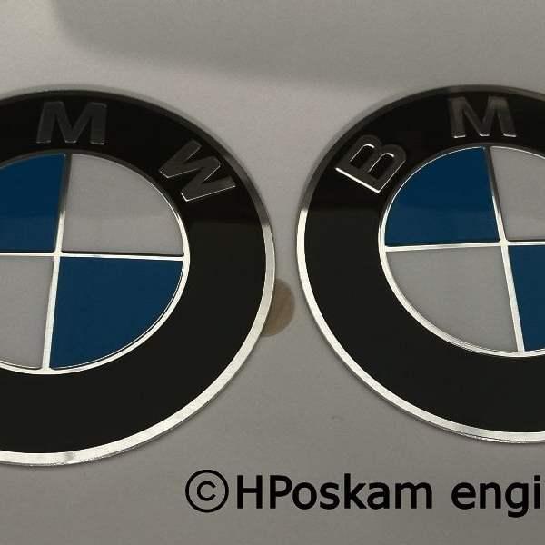 BMW 70mm emblemen front
