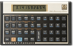 The HP12c - the only calculator requiring critical thinking skills for basic math.