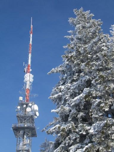 auf dem Turm bläst ein eisiger Biswind