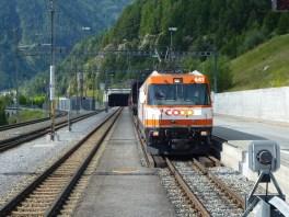 Tunnelportal Vereina bei Sagliains