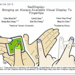 HPX Life30:NailDisplay指甲顯示(CHI 2013 Best Paper)及人機互動學習心得
