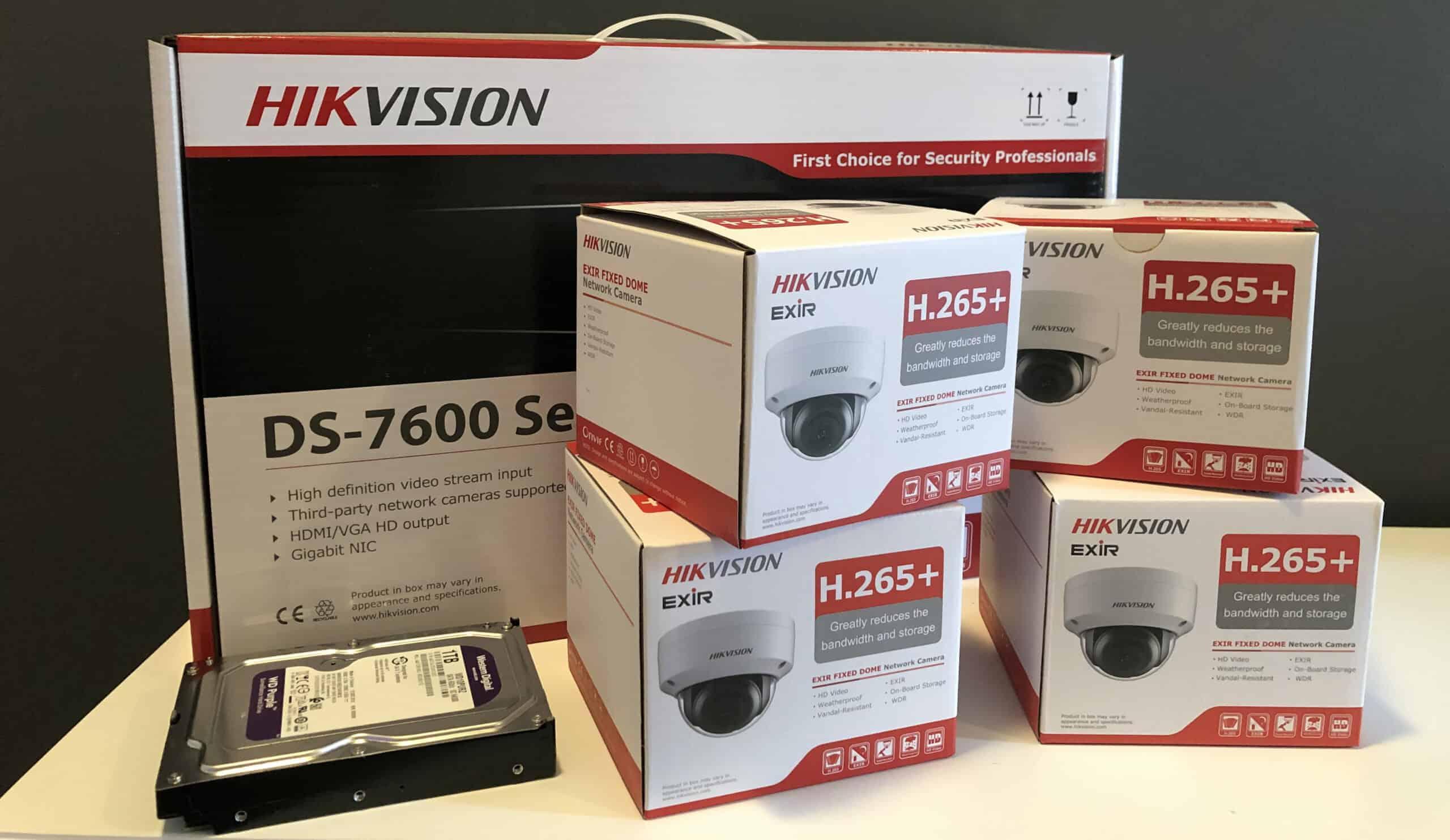Hikvision Set van 4x Dome Camera, 4e gratis