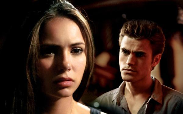 Главные герои сериала Дневники вампира обои для рабочего ...