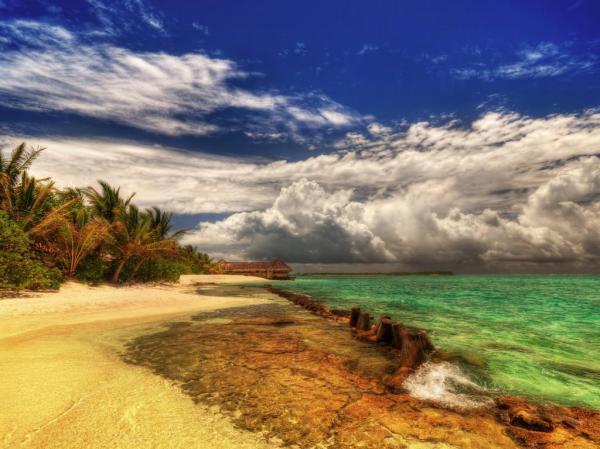Океан, солнце, лето, как, у христа, за пазухой обои для ...