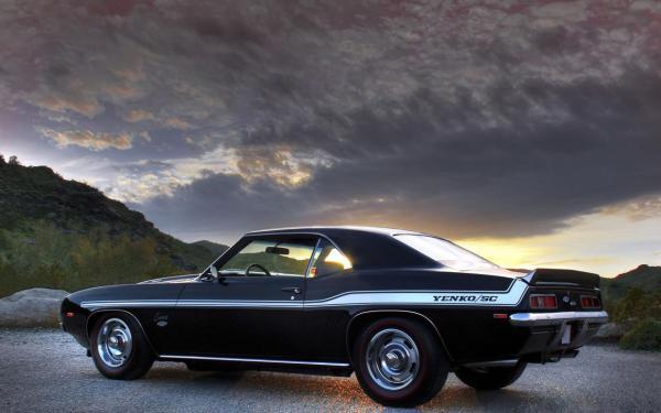 Chevrolet, camaro, авто, тюнинг, закат, дорога, автомобили ...