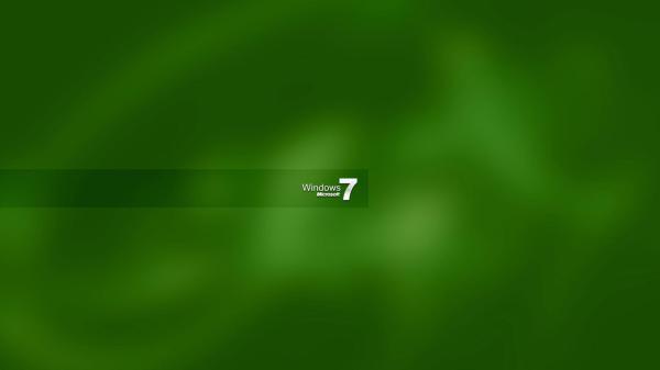 Зеленая заставка Windows 7 обои для рабочего стола ...