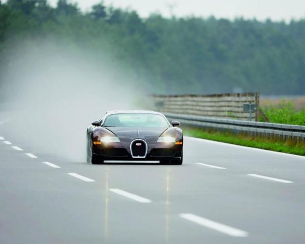 Bugatti, veyron, дорога, скорость, фары, автомобили ...