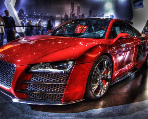 Тюнинг, красная, АУДИ, автомобили, машины, авто обои для ...