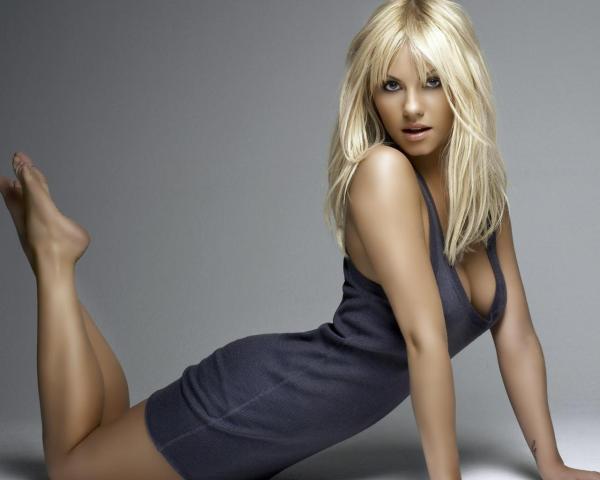 Блондинка, короткое, платье обои для рабочего стола ...