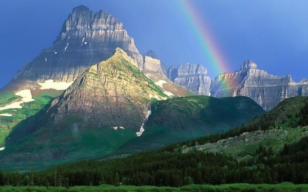 Горы, радуга обои для рабочего стола, картинки, фото ...