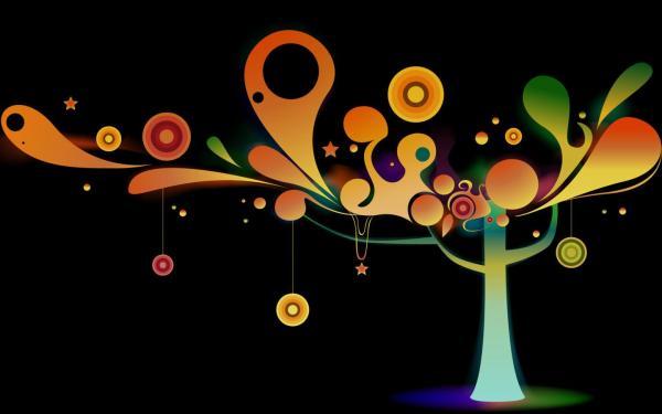 Волшебное дерево - пикселей обои для рабочего стола ...