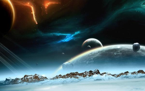 На планетах в космосе обои для рабочего стола, картинки ...
