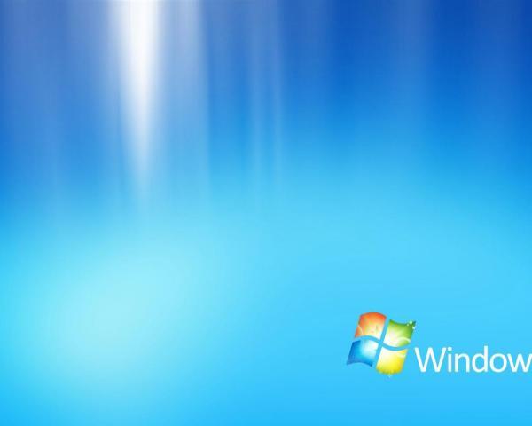 Голубая заставка Windows 7 обои для рабочего стола ...