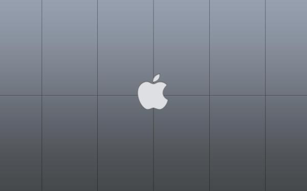 Серые с логотипом компании Apple Macintosh. обои для ...