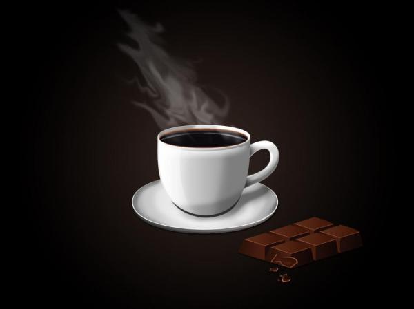 Горький кофе и шоколадка обои для рабочего стола, картинки ...