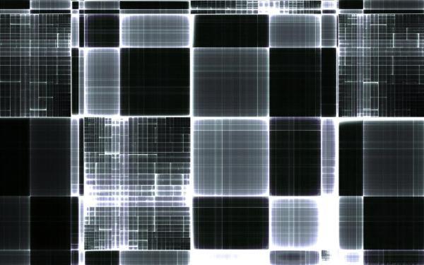 Черно-белые 1920х1200 — кубическая абстракция обои для ...