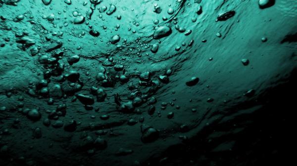 Вода, пузыри, море, под водой обои для рабочего стола ...