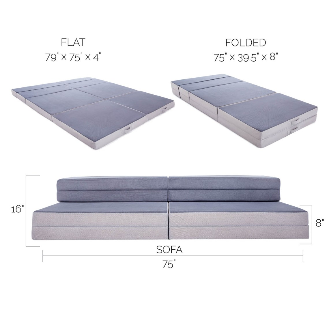 Image Result For Lucid King Twin Xl Convertible Folding Foam Mattress Sofa