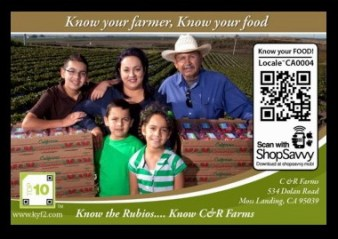 QR Codes Help Connect Consumers with Farmers – I've been struggling with whether QR codes really are worth the effort; from a consumer perspective as well as a marketer. So many just dump you into a website for another status quo web experience. But, in the age of connecting the consumer with their farmers, a brilliant little company, Ethical Bean Coffee, took the QR Code concept to another level. When you snap a picture of their QR Code on the package or point of purchase of their coffee, you not only see a picture of the farmer that grew that coffee but you see his growing practices and more. Now that's a QR Code worth stopping and checking out!