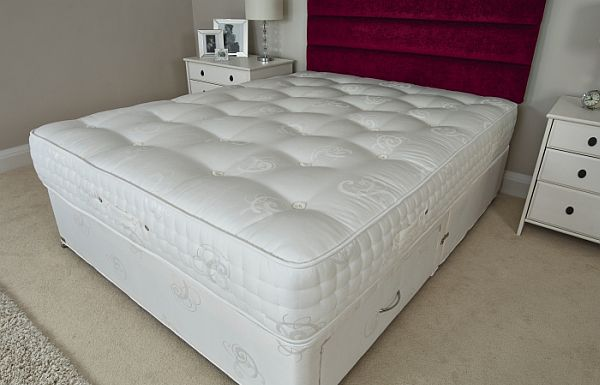 Beautiful Spring Mattress With White Bedding Comfort Rest Design