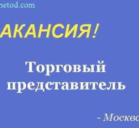 Вакансия - Торговый представитель - Москва