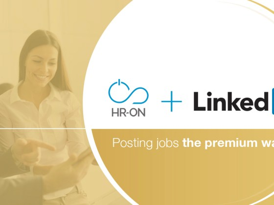 A banner image that shows that it's possible to post jobs to linkedin from HR-ON