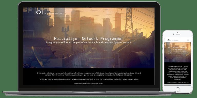 IOIs hjemmeside enkelt job opslag af en multiplayer netværks programmør