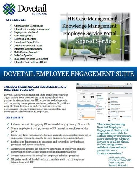 Dovetail Support Suite Datasheet