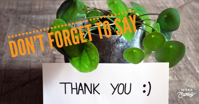Say Thank You!