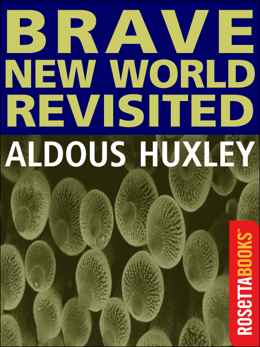 the materialistic world depicted in huxleys the brave new world David hofmeyr on aldous huxley's brave new world: 'a subversive, cool and unsettling work of genius'  vision depicted by orwell in 1984 this is a more sinister, insidious nightmare brave new .