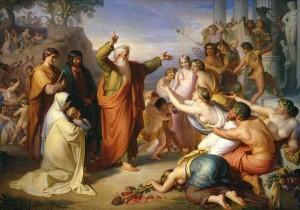 Проповедование Иоанном на острове Патмос